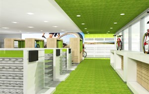 Cycle shop concept interior 1